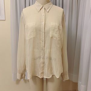 The Limited Sheer Button Front Blouse